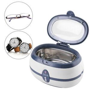 600ml Ultrasonic Cleaner Ultra Sonic Bath Jewellery Cleaning Tank Timer UK Plug