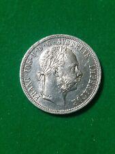 AUSTRIA 1879 1 florin silver