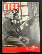 LIFE MAGAZINE  May 1 1944  AIRMAN COMES HOME / Anzio Beachhead / Sherlock Holmes