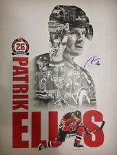 RARE Patrik Elias autographed poster New Jersey Devils #26 Retirement Night