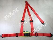 Secuda High Quality Red 3 Point Racing Rally Race Harness with Anchor Plates