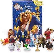 Disneys Beauty and the Beast Cake Toppers Set of 12 Figures (free Book)