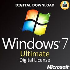 Genuine Windows 7 Ultimate SP1 Full Version 32/64bit Lifetime Activation code.