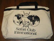 "2001 Safari Club International Canvas Convention Bag ""The Year of the Hunter"""