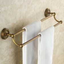 Antique Brass Bathroom Accessories Wall Mount Towel Rack Holder Double Towel Bar