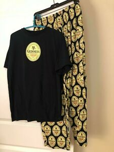 Guinness lounge PJ pants and t-shirt mens