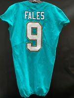 #9 DAVID FALES MIAMI DOLPHINS GAME USED AQUA NIKE JERSEY SIZE 42 YEAR 2017