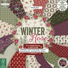 DOVECRAFT WINTER ROSE 8 X 8 CRAFT PAPERS SAMPLE PACK 16 SHEETS POSTAGE DEAL