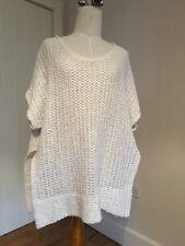 MARINA RINALDI Fab Tunic Jumper Heavy Loose Knit Cream Hemp Size L Chest 50''