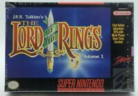 The Lord of the Rings New H-Seam Sealed Super Nintendo SNES not VGA WATA Graded