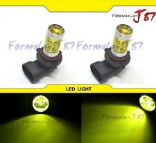 LED 50W 9005 HB3 Yellow 3000K Two Bulb Head Light DRL Daytime Replace Show Use