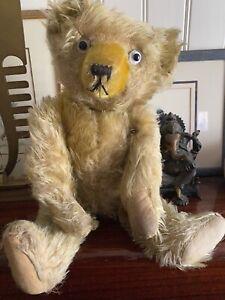 Ours Ancien - Teddy Bear en mohair des années 30 - Pintel