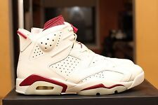 """NIKE AIR JORDAN 6 """"Maroon"""" size 11.0 Ds 100% authentic 384664-116 with receipt"""