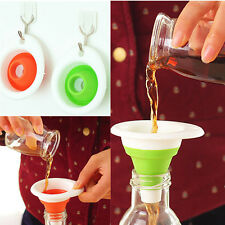 Mini Silicone Gel Practical N A Foldable Funnel Cute CI Collapsible Kitchen Tool