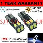 2X W5W T10 501 CANBUS NESSUN ERRORE BIANCHE 6 SMD LAMPADINE LED PER TARGA