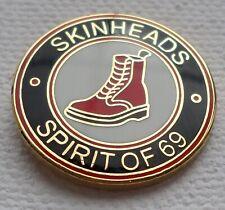 Skinheads Spirit Of 69 Enamel Pin Badge