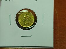 1856 $1.00 Gold Indian Princess High Grade With Nice Luster!!!!