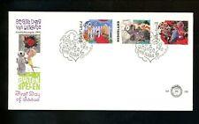 Postal History Netherlands FDC #B659-B661 Children playing doll bicycle 1991