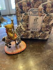 Very Rare Cherished Teddies 506214 Jason Zebra Horse Carousel NIB