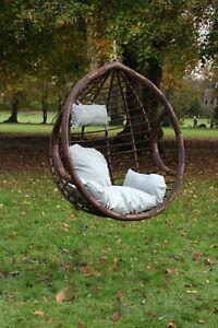 Garden Hanging Chair Hammocks Swing Egg Chair PE rattan - Basket ONLY Brown