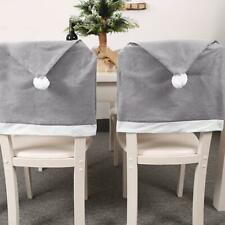 Santa Claus Hat Chair Back Cover Chair Dinner Cover Christmas Table Party Decor