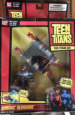 New listing New BanDai 2004 Teen Titans Go Cyborg Blendride Figure & Vehicle
