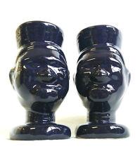 Vintage Trader Vic's Pair Ceramic Head Hunter Tiki Mug Retro Halloween Mugs