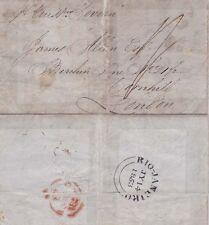 G.B. 1853 E.L from Rio De Jaerio British.d.s. on back rated 1/-s to  {Below}