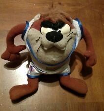 "1996 Space Jam Tazmanian Devil Taz 8"" Plush Looney Tunes"