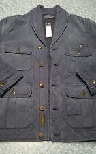 polo ralph lauren mbrownston cruise navy large mens jacket hunting coat nwt