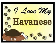 Havanese Personalized I Love My Havanese Magnet