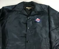 ASA Umpire Jacket VTG Mens L/XL Nylon Windbreaker Baseball Lined USA Made Button