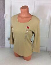 GLORIA VANDERBILT Safari Sweater Top Women's Medium NEW