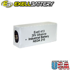 Exell 413A Alkaline 30V Battery NEDA 210 Replaces 20F20, BLR123 ER413