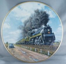 Theodore Xaras No Contest Age of Steam Train Collector Plate