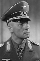 Photo WW2 Général Erwin Rommel débarquement de Normandie format 10x15 cm n236
