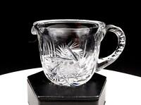 "BRILLIANT CUT CRYSTAL BUZZSAW AND MITRE 2 1/2"" CREAMER"