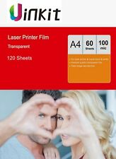 OHP Film A4 Overhead Project Clear for Laser Printer 210x297 Uinkit - 120 Sheets