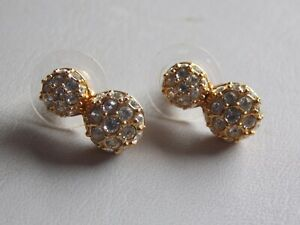 Beautiful Gold Plated & Crystal Earrings For Pierced Ears by Swarovski