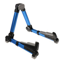 Portable A-frame Blue Guitars Basses Stand Holder AGS-08 for Guitarist