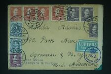 1945 Denmark Censored cover to Usa and two others