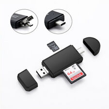 3 IN 1 Type C Memory Card Reader,USB OTG Micro SD TF Adapter For iPhone Macbook