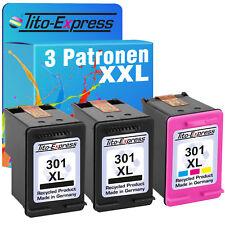 Set 3 Druckerpatronen für HP 301 XL Deskjet 1010 1510 2510 2514 2542 2544 2550
