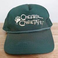 VTG CHESTER CHEETAH GREEN NAVAL ROPE STYLE VENTED SNAPBACK BASEBALL HAT CAP