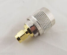 1pcs RF Connector UHF PL259 Male Plug To SMA Male Plug Coaxial Coax Adapter