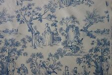 Lewis & Wood Vauxhall Gardens Toile de Jouy Heavy Cotton Quilted Effect Fabric