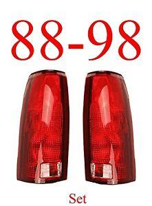 88 98 Chevy Tail Light Set, Assembly, Truck, GMC, Suburban, Tahoe, NIB GM2800125