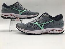 Mizuno Wave Rider 22 Running Shoes Size 9 Gray Aqua Green