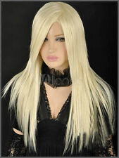 Fashion wig New sexy women's long Blonde Straight Natural wigs+free wig cap
