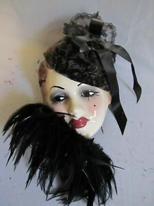 Unique Creations  Art Deco Lady Face Handmade Mask  Signed and Numbered